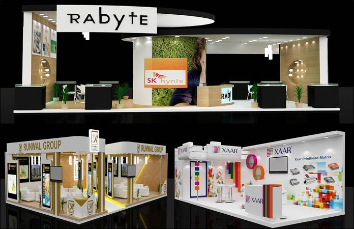 Exhibition Booth Fabrication : Kamakaazee group